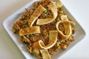 week zonder vlees met vegetarische nasi