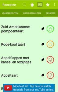 Seizoensgroenten-app Froenten recepten