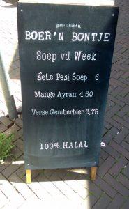 Boer n Bontje Dordrecht menu