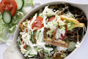 week zonder vlees met vegetarische kapsalon