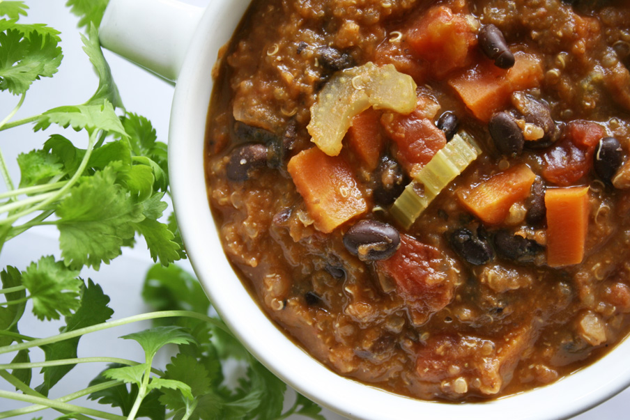 Mexicaanse quinoa-soep